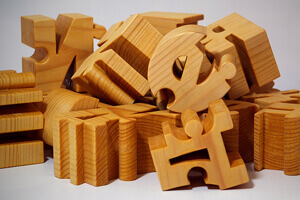 wooden personalized name puzzles for baby