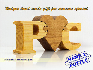 name puzzle wooden